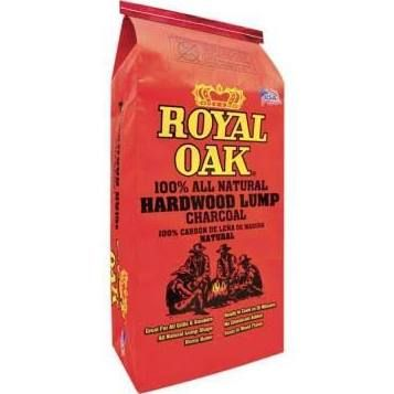 In stock at Home Depot (this is the one you use with the metal chimney starter) Royal Oak 15.44 lb. 100% All Natural Hardwood Lump Charcoal