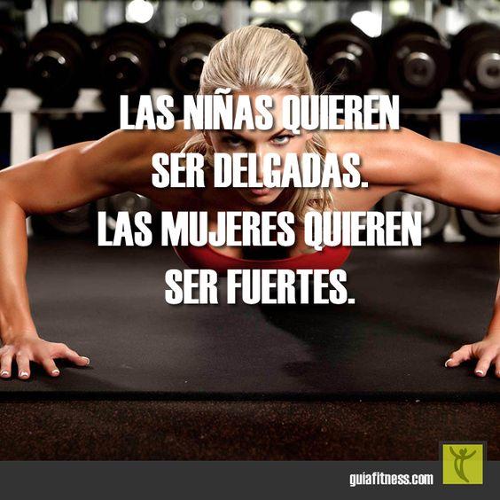Las niñas quieren ser delgadas. Las mujeres quieren ser fuertes. #strong #woman…