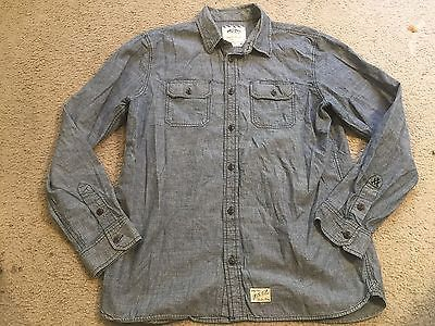 VANS Off the Wall Denim Jean Casual Long Sleeve Button Down Shirt mens XL https://t.co/m1VCz9LPCf https://t.co/4z34fqqlwe