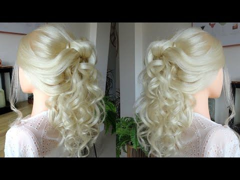 Curly Half Up Half Down Hair Style Cascading Curls Tutorial Youtube In 2020 Down Hairstyles Hair Styles Half Up Half Down Hair