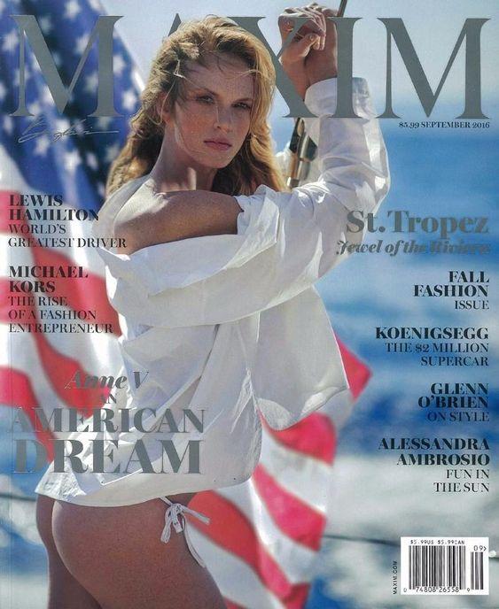 Anne Vyalitsyna pose for Maxim Magazine September 2016 Cover