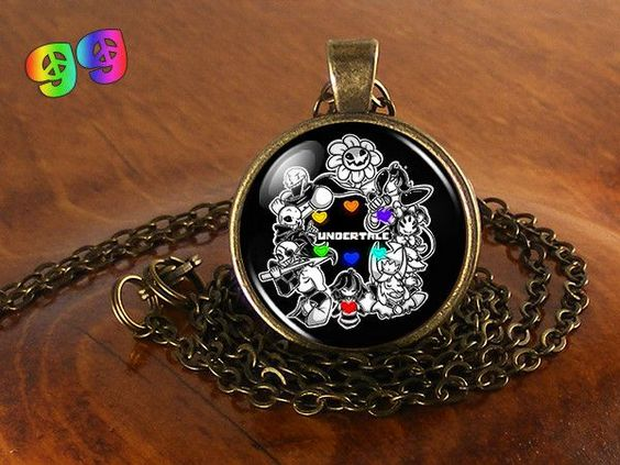 Undertale Sans, Flowey, Papyrus, & the Gang (1) Gaming Necklace Chain & Pendant Charm Jewelry