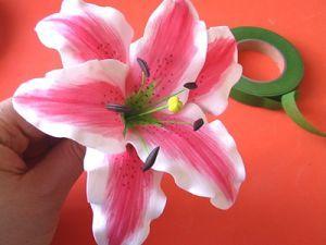 Цветы из фоамирана - мастер-класс23