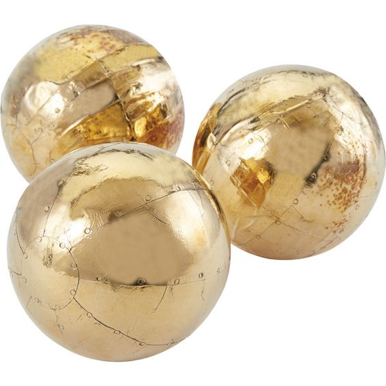 Decorative Orb in Gold Set of 3 Because Its Awesome
