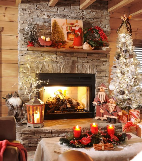 Kirklands Christmas Decorations: From Kirklands Facebook Page-pretty Mantel And Fireplace