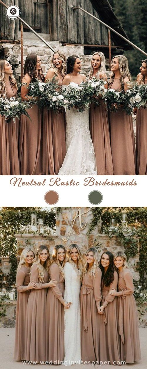 Rustic bridesmaid