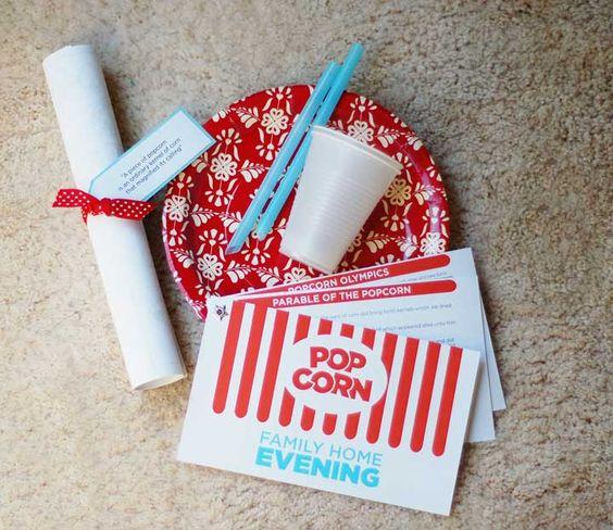 Popcorn Family Home Evening | Inkablinka