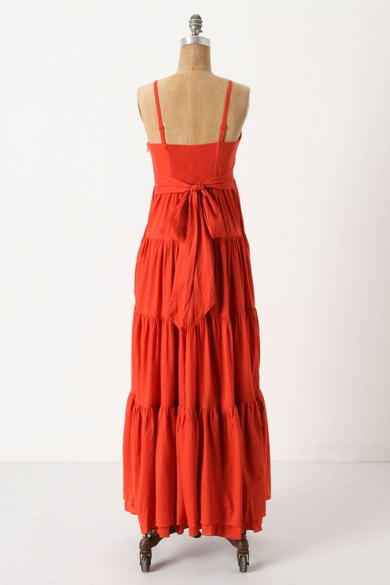 Back of dress. On sale, Anthropologie. Adore this for fall. Short crop shrug/cardigan, long pendant necklace, ballet flats in yellow (already have mine!). xoxo