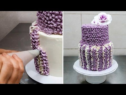 Swirl Roses and Petal Buttercream Cake How To Make by CakesStepByStep - YouTube