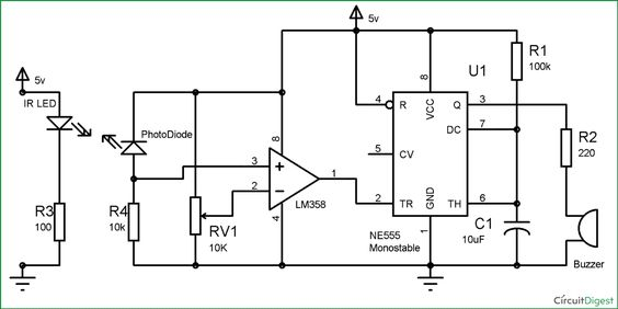 security alarm  circuit diagram and electronic circuit on