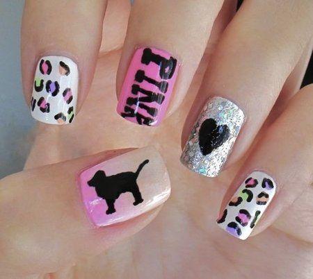 Victoria Secret Pink Nails #nails #nailart #glitterpolish - bellashoot.com