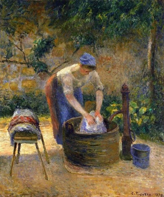 Camille Pissarro, Lavadeira (1879)