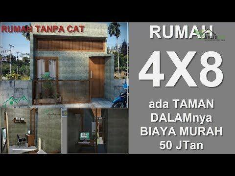 RUMAH UNIK 4X8 - YouTube | Dekorasi Rumah Mungil, Dekorasi Rumah Elegan,  Denah Rumah Kecil