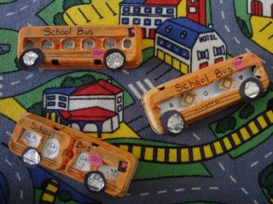 The Playful Garden  Back to School Egg carton Buses