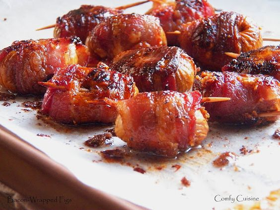 Bacon Wrapped Figs with Gorgonzola - we served these at our wedding... a huge hit!