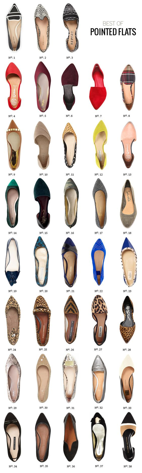 Here's one of the Spring '14 Trends, pointed flats! // Best Of: Pointed Flats for Fall by Modern Eve