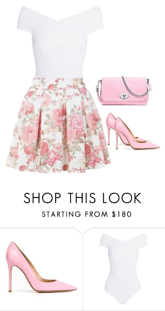 """Outfit #43"" by sunshine24-7-1 ❤ liked on Polyvore featuring Gianvito Rossi, Alix, Dorothy Perkins and Coach"