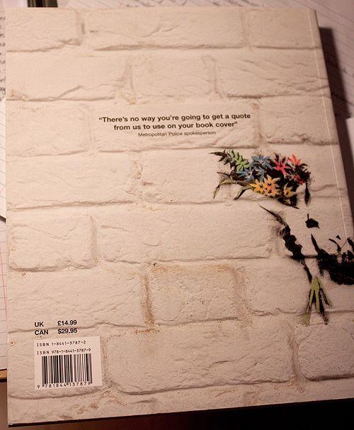 Back of Banksy's book