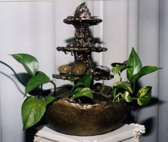 Fuente de agua realizada en pasta piedra mi pasta piedra for Fuentes de agua para interior