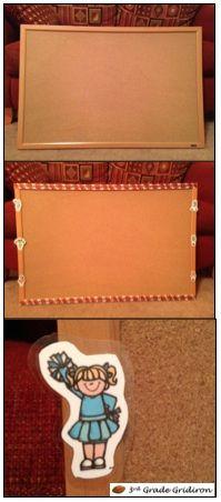 Classroom DIY: DIY Corkboard Redesign  http://www.classroomdiy.com/2012/08/diy-corkboard-redesign.html