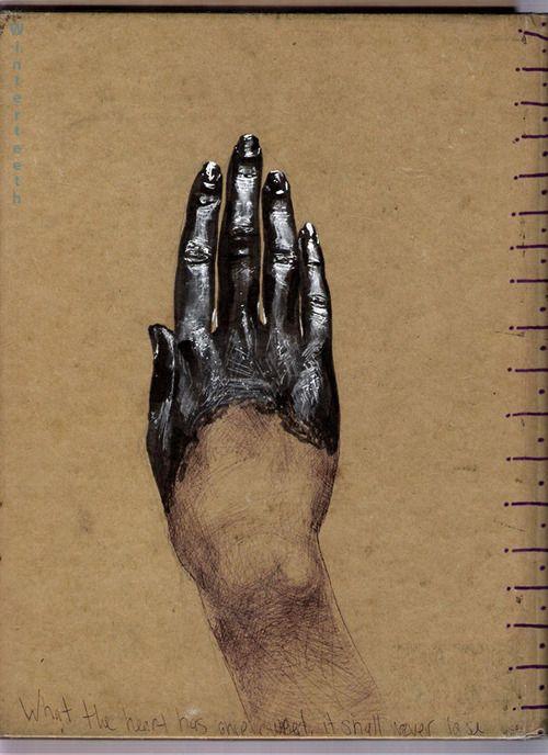 thelastbuffalo   Artist Vanessa Rivera - Back of sketchbook.    Sharpie, gel-pen and ballpoint pen.