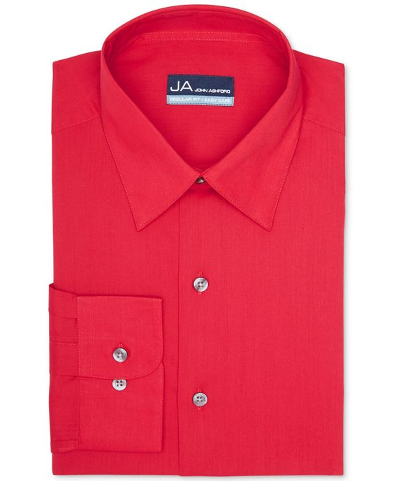John Ashford Solid Dress Shirt