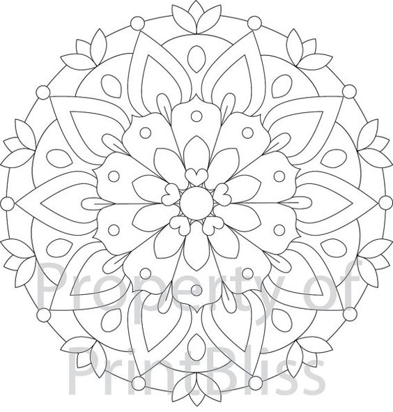 2 flower mandala printable coloring page coloring mandalas and flower. Black Bedroom Furniture Sets. Home Design Ideas