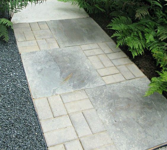 how to make concrete look like pavers