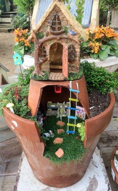 Actividades con ni os jardines en miniatura plantas y for Decoracion de jardin con ollas de barro