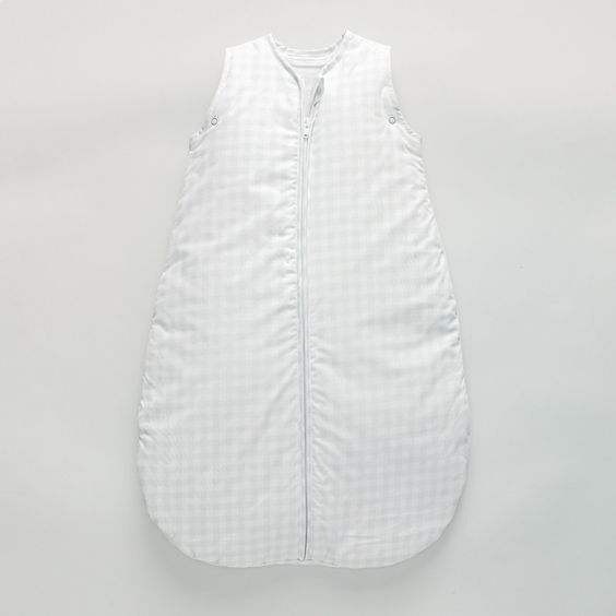 Gingham Sleepbag 2.5 Tog   The White Company Wear from 6 months so 2.5 tog for the winter