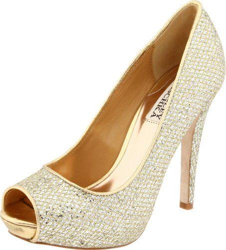 Its cool: Mischka Women, Wedding Gift, Gold Pumps, Gold Glitter Shoes, Mischka Shoes, Badgley Mischka, Gold Shoes