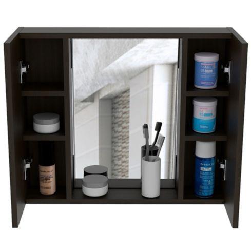 Gabinete Para Bano Artemisa 2 Puertas Con Espejo 49x60x11 8 Cm