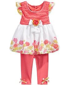 Nannette Baby Girls' 2-Piece Rosette Tunic & Leggings Set
