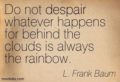 images of l. frank baum | Frank Baum : Do not despair whatever happens for behind the clouds ...: