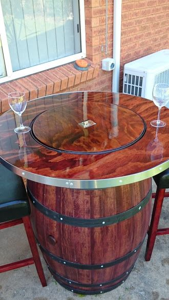 Wine Barrel Table DIY. #diy #furniture