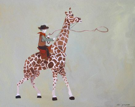 Not your average Cowboy -acrylic on canvas with your child's picture -