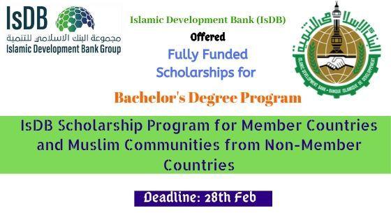 Isdb Isfd Bachelor Degree Program Degree Program Graduate Scholarships International Scholarships