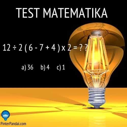 12 2 6 7 4 X2 Perhatikan Urutan Penghitungan Tes Matematika Matematika Belajar