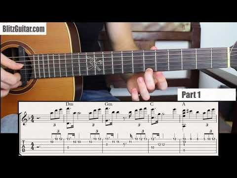 Sweet Fingerstyle Melody For Beginners In D Minor Key Youtube Guitar Classes Guitar Lessons Playing Guitar