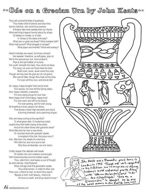 "ode on a grecian urn figures of speech More distinctly in the ""ode on a grecian urn""the figures of the lovers depicted on the greek urn become for him the symbol of an enduring but unconsummated passion that subtly belies the."