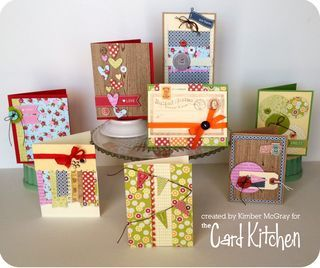 Full Set of February 2014 Card Kitchen kit cards via The Card Kitchen Kit Club Blog