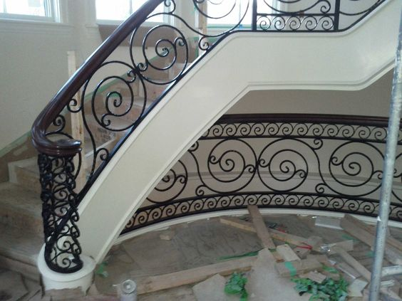 Custom interior stair railings by seldom metal designs ltd. www ...