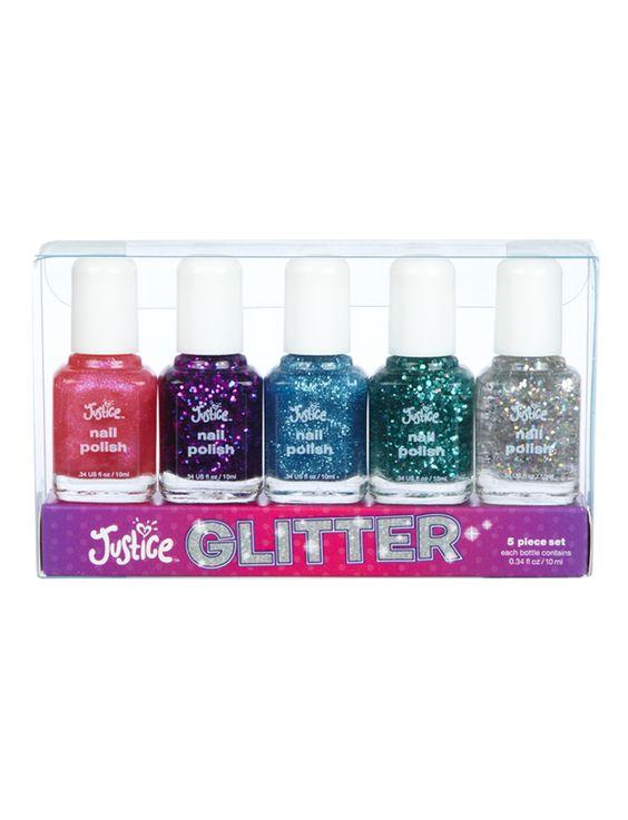 Glitter Nail Polish Kit   Nail Polish & Kits   Beauty   Shop Justice