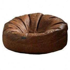 leather bean bag brown and real leather on pinterest. Black Bedroom Furniture Sets. Home Design Ideas