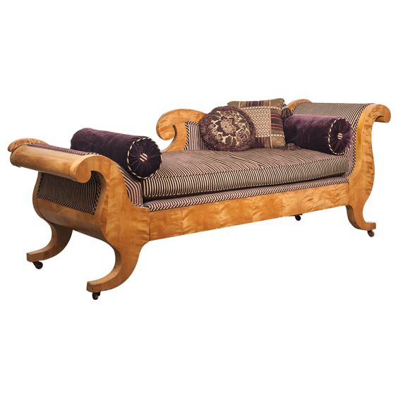 Recamiere biedermeier  German 19th Century Biedermeier Recamier Sofa | Furniture/Fixings ...