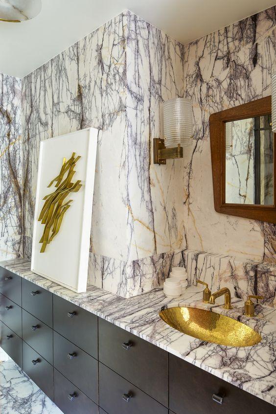 KELLY WEARSTLER | INTERIORS. Guest Bathroom. Blodgett Residence, New York