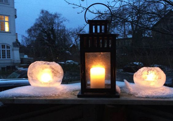 Learn how to make these beautiful and delicate winter Ice lanterns.