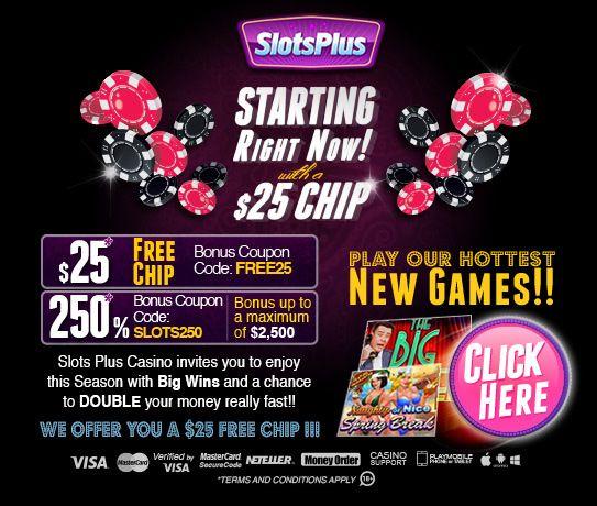 Slots Plus Casino 25 Free Chip Online Casino Casino Slot