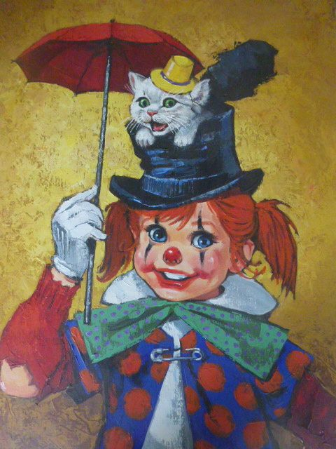 Clown Child with Cat by Beverly Edwards, DAC Collection - Donald Art Company Collection