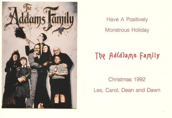 Addams Family Christmas Card (GMA viewer submitted card)